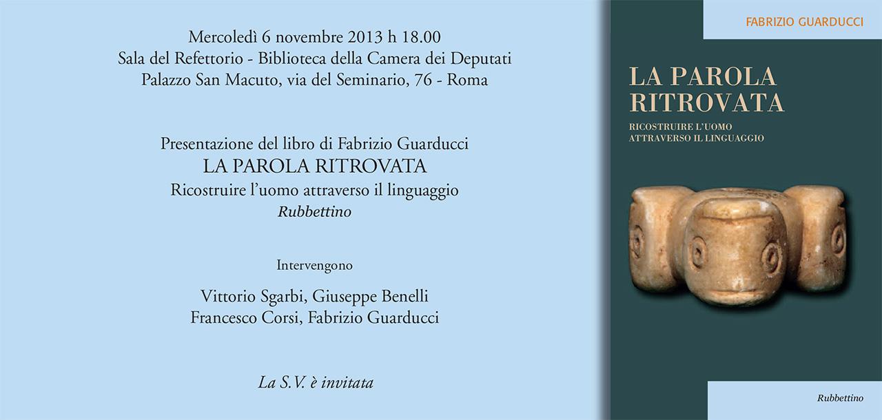 la Parola Ritrovata Roma 2013