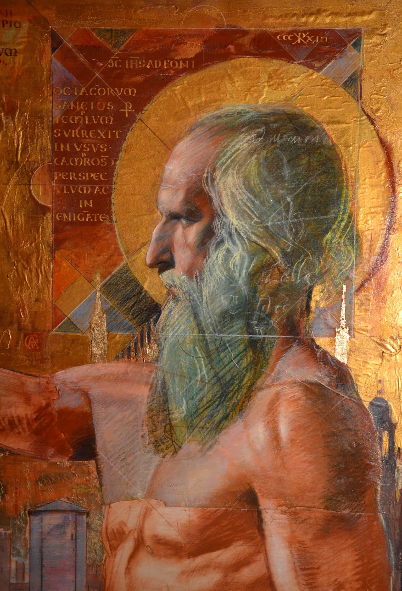 """""""Francesco Mori l_assedio di Milano, (de Bello Italico), tecnica mista su tavola, cm 150x200 (Particolare)"""